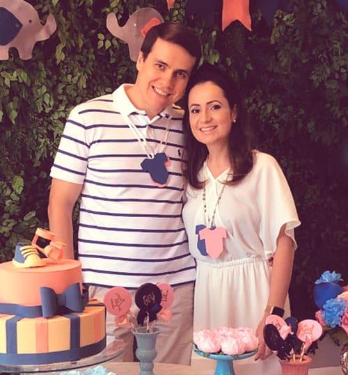 Chá de bebê virtual da Luciana com o iFraldas. Tema Chuva de Amor Azul