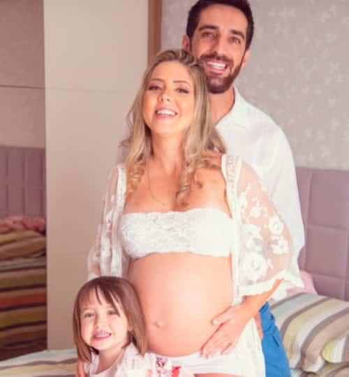 Chá de bebê virtual da Jaqueline Alves com o iFraldas. Tema Balões Rosê