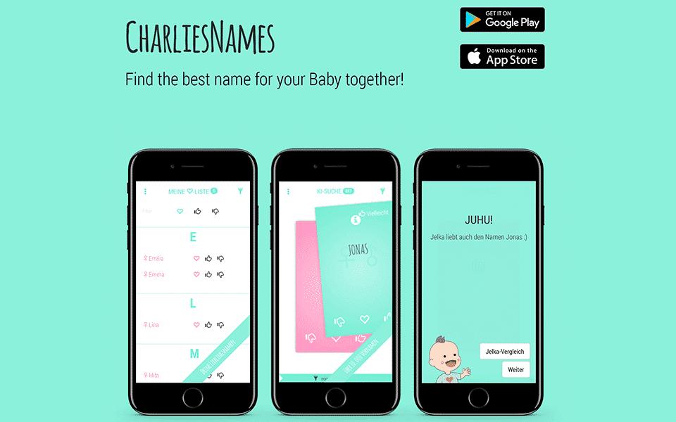 charlies names nome do bebe